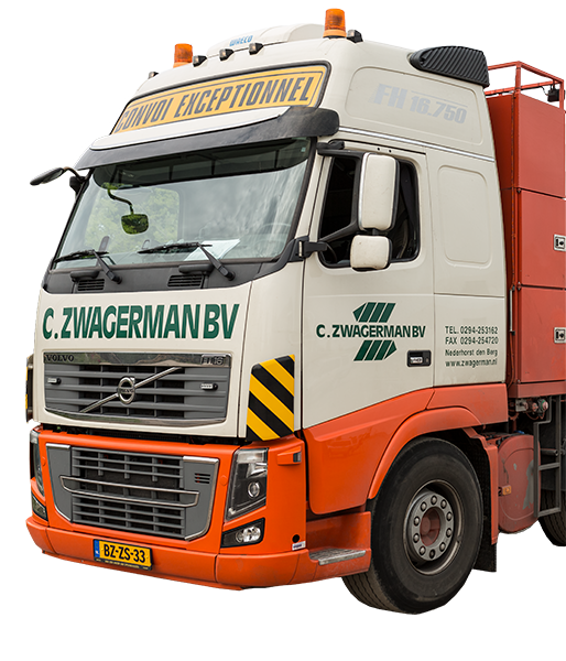 Volvo dieplader Zwagerman Transport